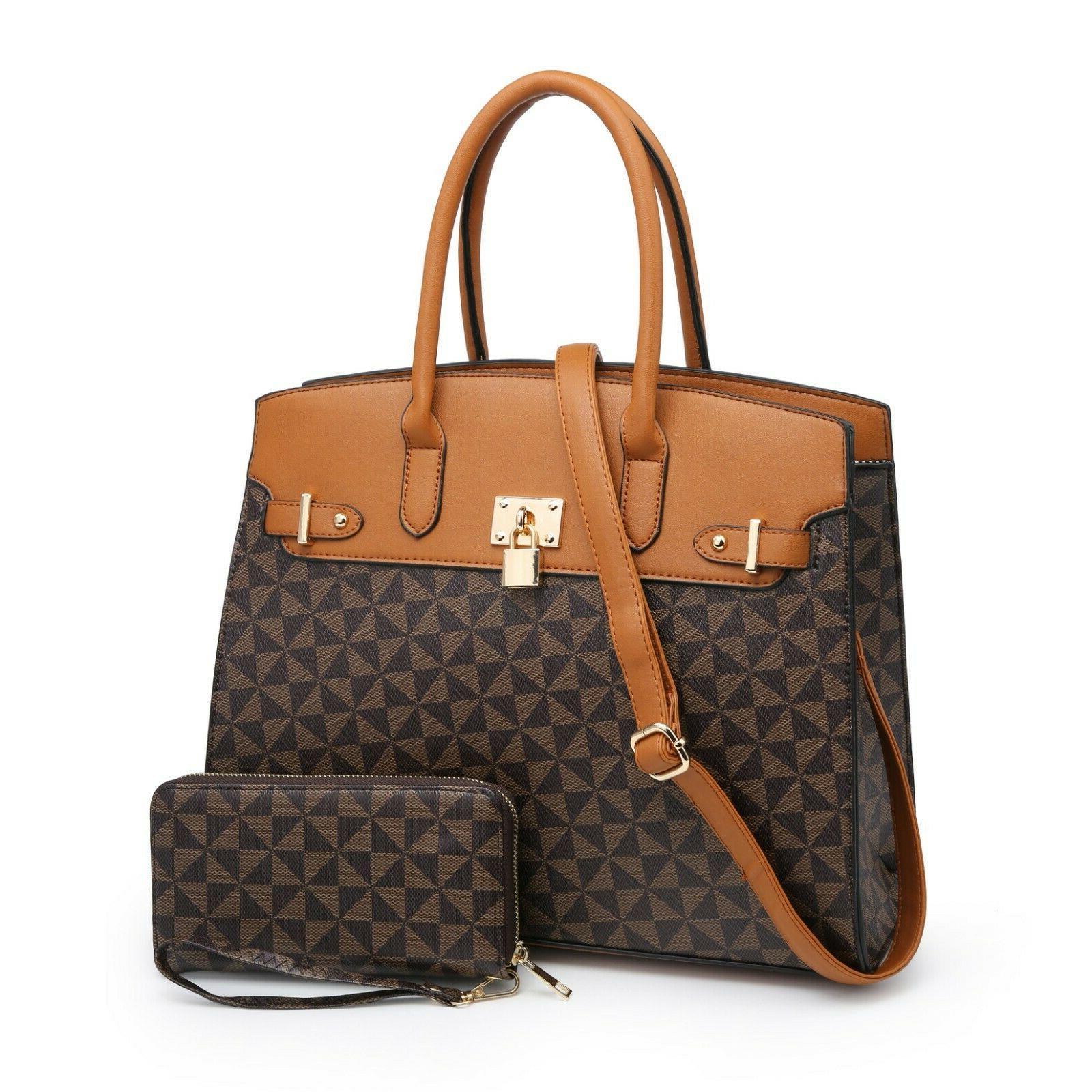 Women Large Satchel Work Hand Bag Shoulder Tote Bag Purse/Wa