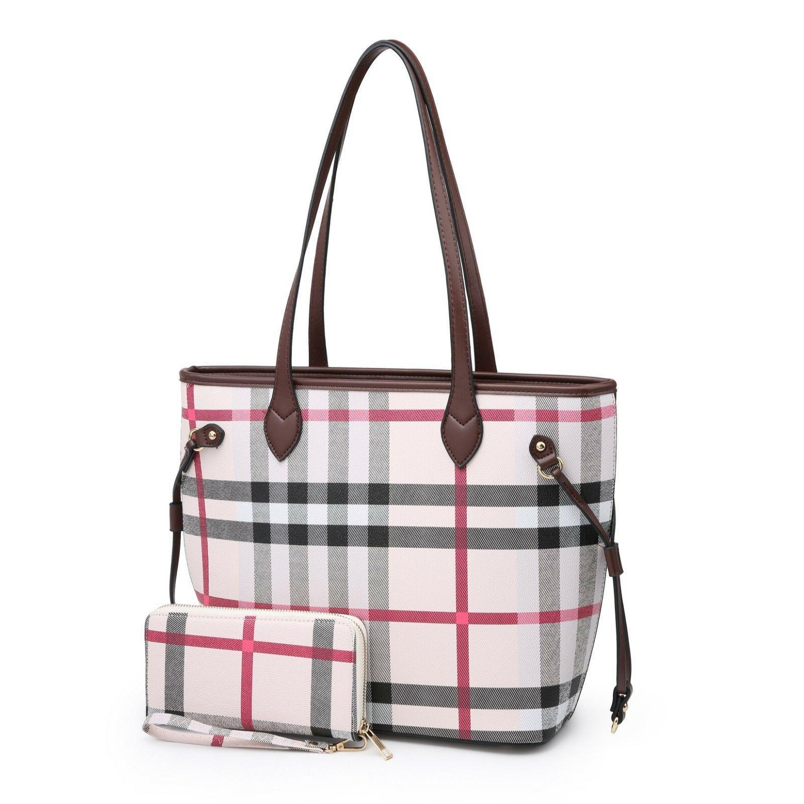Women Large Shoulder Tote Bag & Wallet
