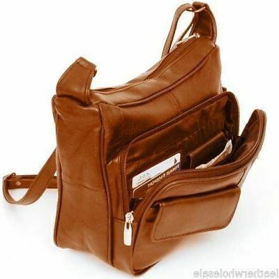 women s leather organizer purse shoulder bag