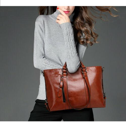 Women's Oiled Handbag Lady Shoulder