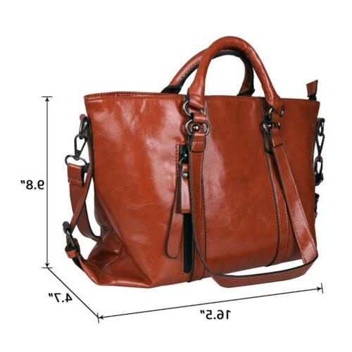 Women's Lady Briefcase Purse Shoulder Messenger Bag