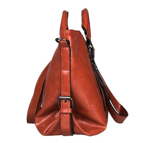 Women's Oiled Leather Lady Tote Shoulder