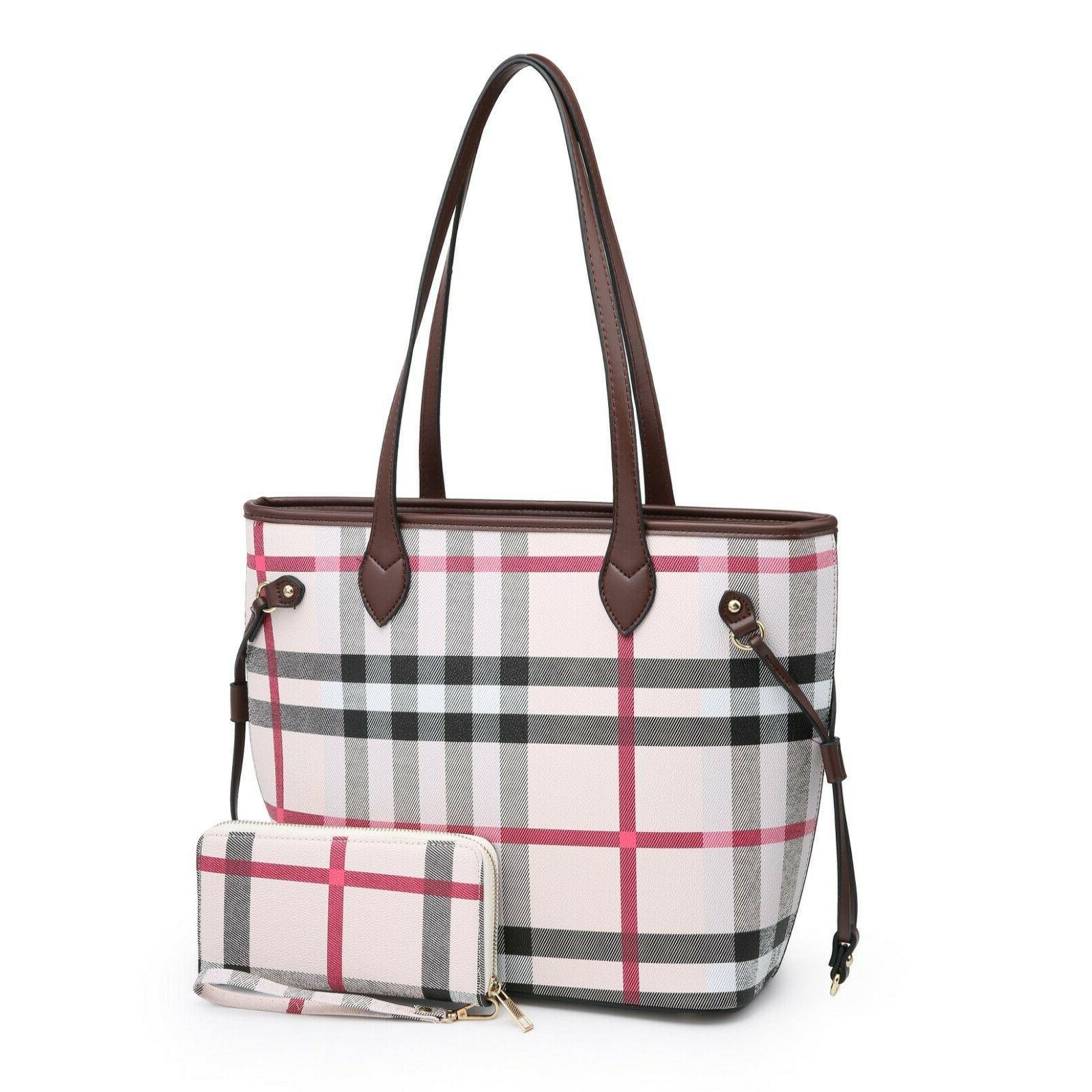 Women's Satchel 2 in 1 Shoulder Bag Set New