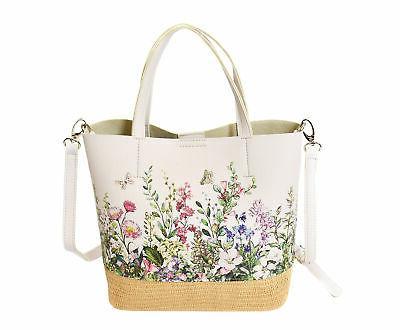 Floral Pattern Handbag Vegan Leather 2 in Tote