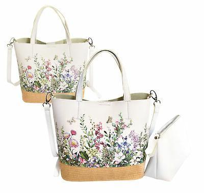 women s two tone wicker floral pattern