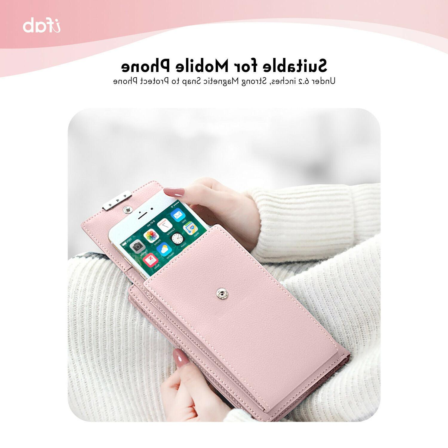 Women Small ifab Cell Phone Wallet Pink