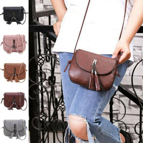 women tassel handbag satchel messenger cross body