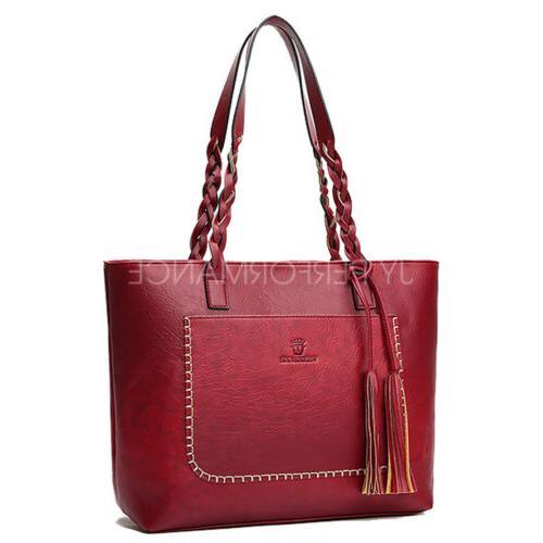 Women Leather Bags Handbag Shoulder Purse Messenger 87