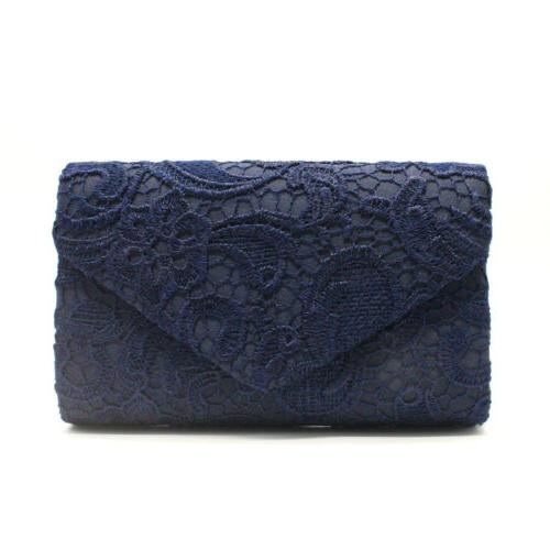 Womens Envelope Clutches Bags Evening Handbag