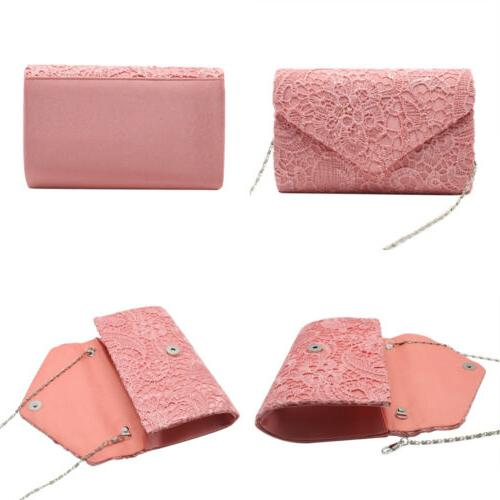 Womens Envelope Clutches Bags Wedding Evening Purses