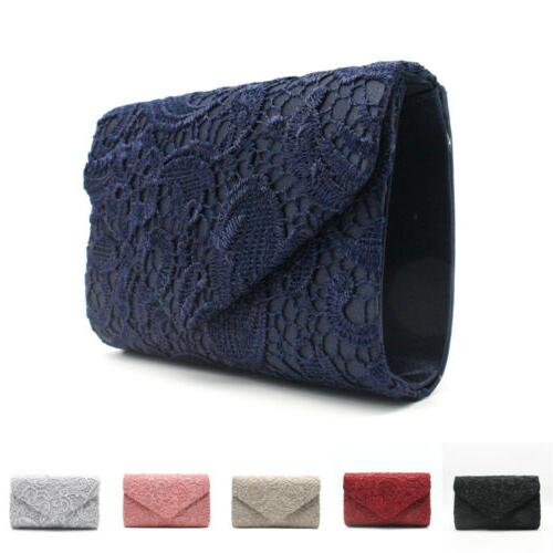 womens elegant floral lace envelope clutches bags