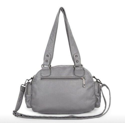 Women's Fashion Large Capacity Black Purse Shoulder Pockets