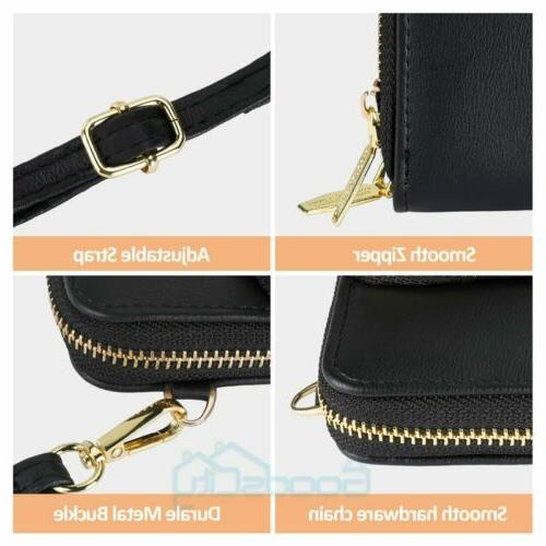Womens Small Leather Crossbody Cell Phone