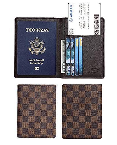 Daisy Passport Card with RFID Blocking- PU Vegan Leather,