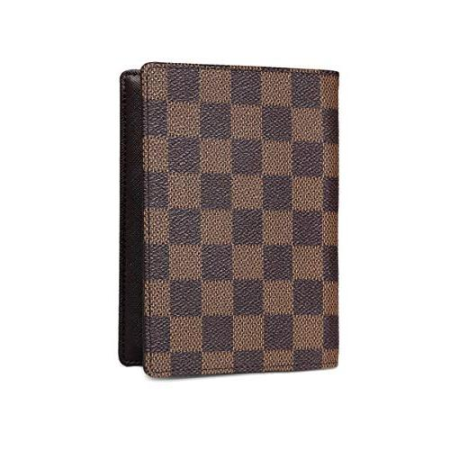 Daisy Rose Luxury Passport and Card with Vegan Leather, Brown