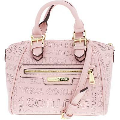 womens promenade pink logo satchel handbag purse
