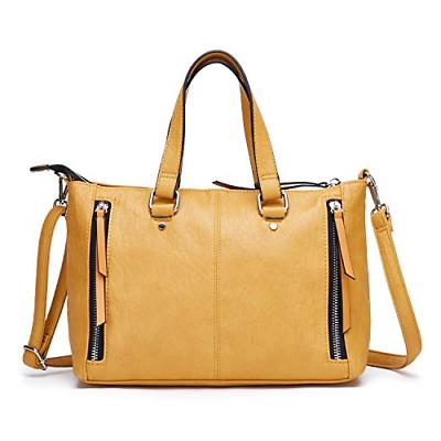 AFKOMST Yellow Purses and Handbags for Women Top Handle Tote