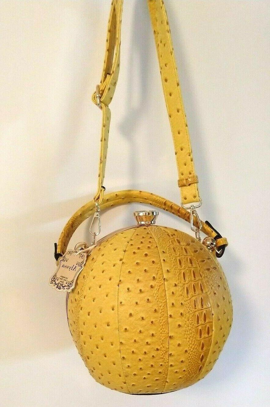 ALYSSA Yellow Beach Ball Satchel / Bag