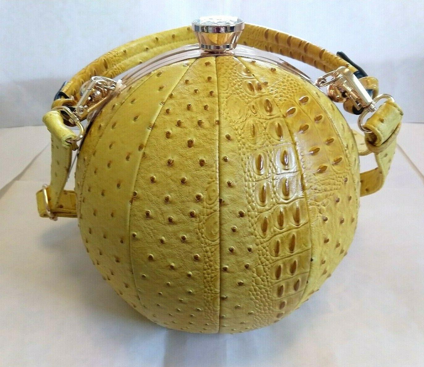 ALYSSA Yellow Round Purse Beach Ball Shaped / Shoulder Bag