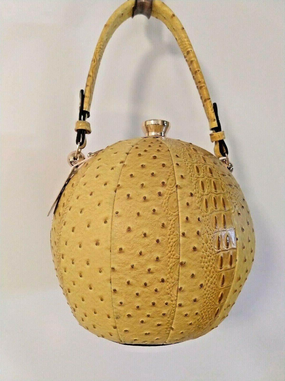 yellow round purse beach ball shaped satchel