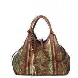 Corral Ladies Turquoise & Brown Python Purses D1194