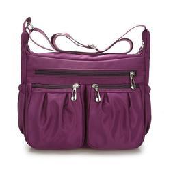 Casual Purses and Shoulder Handbag Women Nylon Crossbody Bag