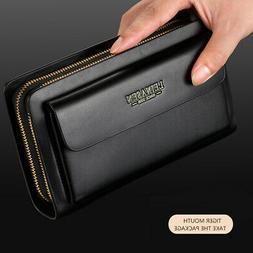 Lady Women's Leather Clutch Wallet Purse Long Card Holder Ha