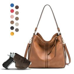 Large Concealed Carry Hobo Purse For Women With Crossbody St