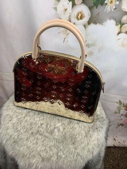 Michael Kors Large Emmy PVC Leather Satchel Crossbody Bag  p