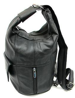 Large Special Design Genuine Leather Two in One Backpack Sli