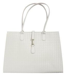 ULTA BEAUTY~ Large Tote Bag Purse ~  Stone White ~ BRAND NEW