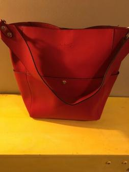 Bostanten Large Tote Bucket Purse Red