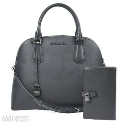 Latest Michael Kors ADELE Black Crossbody Dome Satchel Bag P