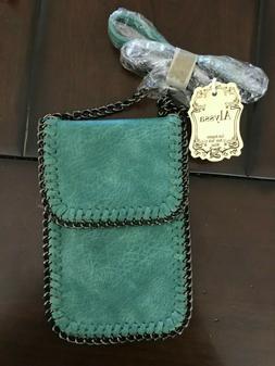 Alyssa Lead Safe Vegan Leather Turquoise Cross Body Small Pu