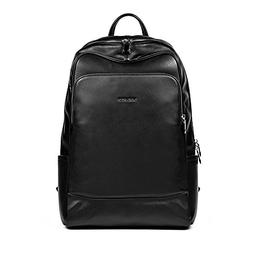 BOSTANTEN Leather Backpack School Laptop Travel Camping Comp
