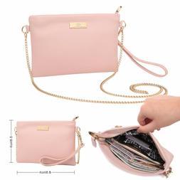Aitbags Leather Clutch Purse for Women Wristlet Crossbody Ba