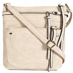 STUOYE Leather Crossbody Bags for Women Medium Shoulder Purs