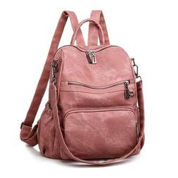 Leather Fashion Backpack Purse Anti-theft Shopping Casual Co