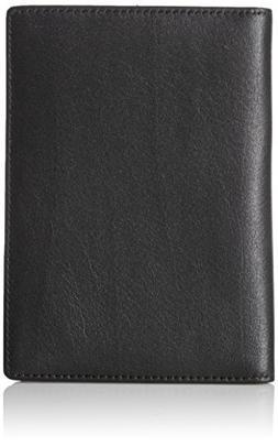 AmazonBasics Leather RFID Blocking Passport Wallet, Black