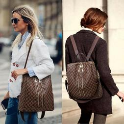 LEATHER WOMEN'S BACKPACK Purse Fashion Casual Crossbady Shou