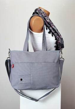 Light Gray Shoulder Messenger Purse Sling Hobo Bag Gift For