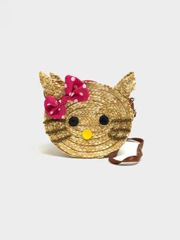 Little Girls' Go Go Straw Mini Kitty Shoulder bags Purses &
