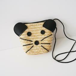 Little Girls' Go Go Straw Mini Shoulder bags Purses & Wallet