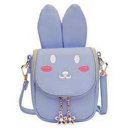 Wraifa Little Girls Purse, Cute Bunny Crossbody Bag Coin Han