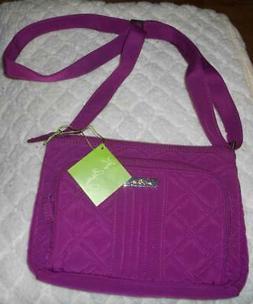 Vera Bradley Little Hipster Crossbody Microfiber Bag Purse -