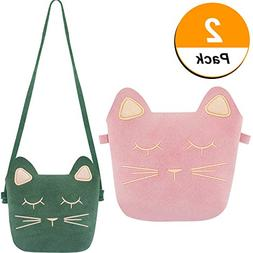 TOODOO Little Girls Purses Cute Cat Ears Girl Crossbody Shou
