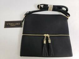 Deluxity Los Angeles Hobo Crossbody Women's Bag Purse w/ Tas