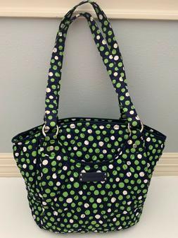 Vera Bradley Lucky Dots Glenna Shoulder Bag Purse Tote with