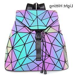 Luminous Geometric Purse Backpack Reflective Backpack Fashio