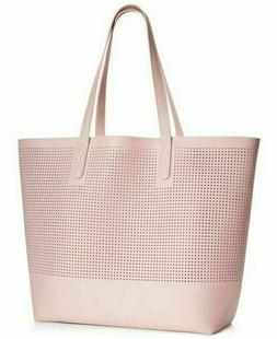 Macy's Large Mesh Tote Bag dusty Pink Pale Shoulder hand s